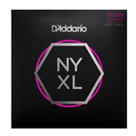D'Addario NYXL 45-100 Nickel Wound Bass Guitar Strings, Regular Light, 45-100 Long Scale NYXL45100