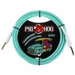 Pig Hog Seafoam Green 10ft Vintage Series Instrument Cable PCH10SG