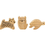 Green Tones Endangered Animal Shaker Set 3788