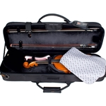 ProTec Black Deluxe 4/4 Violin ProPac Case, Black PS144DLX