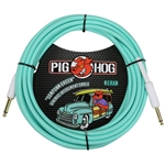 Pig Hog Seafoam Green 20ft vintage series instrument cable PCH20SG