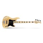 Cort GB Series 4-String Electric Bass, Natural Finish GB54-JJ-NAT