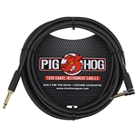 Pig Hog 10ft Right Angle Instrument Cable Black PCH10BKR