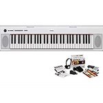 Yamaha NP12WH 61-Key Entry Level Piaggero Portable Digital Piano W/Survival Kit, WHITE NP12WH-KIT