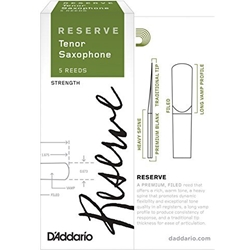 D'Addario Reserve Tenor Saxophone Reeds 3+ 5 Pack DKR05305