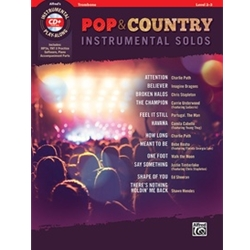 Pop & Country Instrumental Solos for Trombone with Book & CD