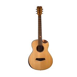 Islander Acoustic/Electric Mini Guitar, Acacia, W/Bag AS-MG-EQ